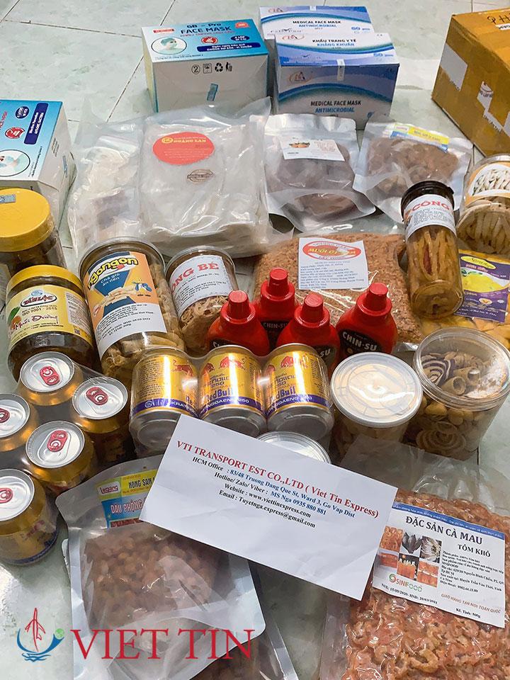 Gửi thực phẩm qua Mỹ